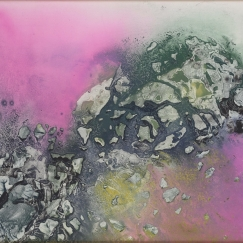 Landscape《山水》(No. 217) , 1997, Ink and colour on board, 38.1 x 58.42 cm