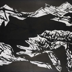 Pine《松》(No. 97), 2003, Ink on board, 71.12 x 96.52 cm