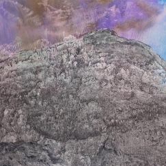 Mountains of Heaven《天界》(No. 362), 1999 Ink and colour on paper 96.52 x 180.34 cm