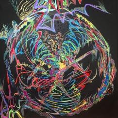 SIRIUS 2017, Acrylic on Canvas, 90 x 90 cm