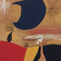 "Hommage to Miro 2002, Acrylic on canvas, 16"" x 8"""