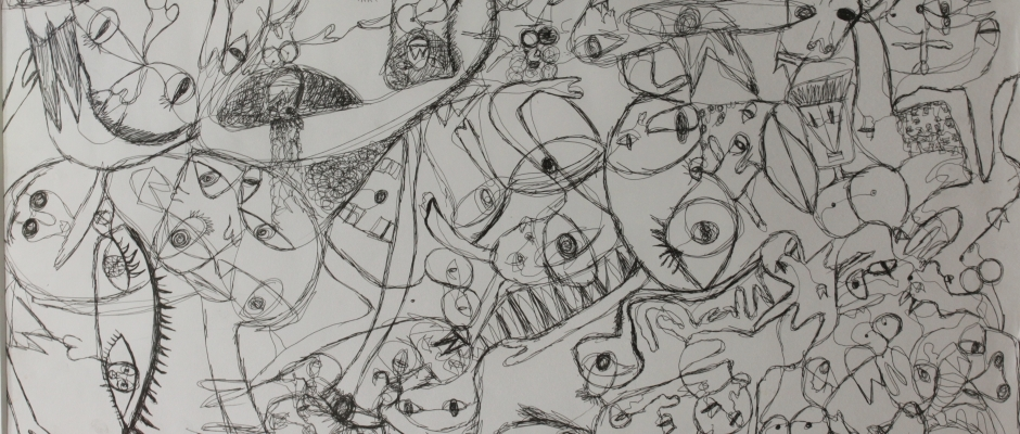 Jlee | The World is Beautiful , 2008, 50.8 x 76.2 cm, Black Pen on Art Paper, For more info: (+852) 2155 1820